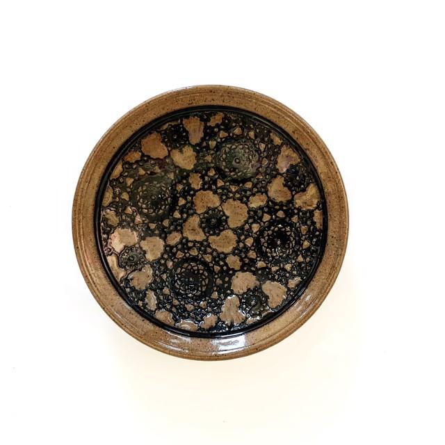 "Richard Winslow | Dark Textured Dish | Ceramic | 2.5"" X 11"" | $95.00"