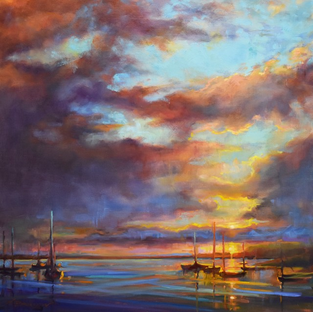 "Karen Bruson | It's a Beautiful Life | Oil on Canvas | 24"" X 24"" | $1,095.00"