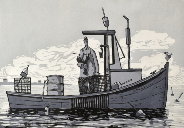 "David Witbeck - Prints | Keeper | Woodcut | 15"" X 21"" 