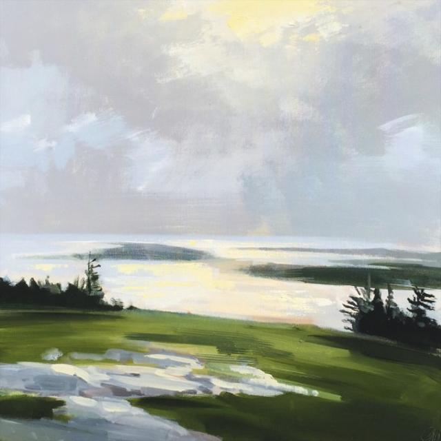 "Craig Mooney | Island Haze | Oil | 30"" X 30"" | Sold"