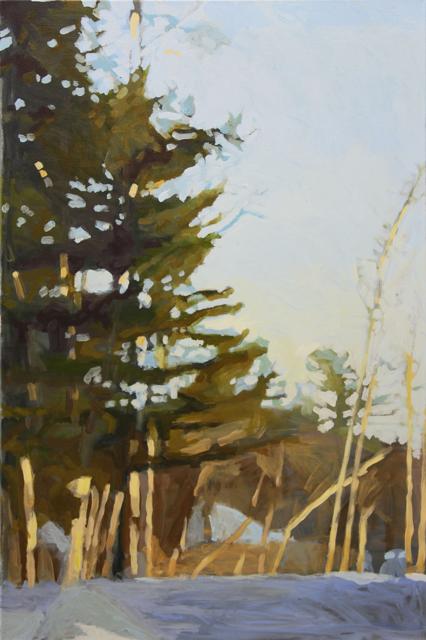 "Liz Hoag | On the Way Home | Acrylic | 36"" X 24"" | Sold"