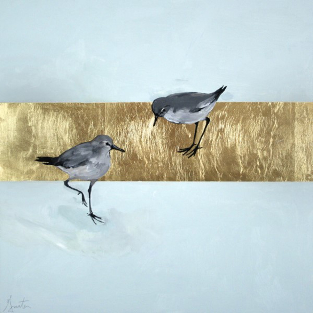 "Ellen Welch Granter | Essential | Oil and Gold Leaf on Panel | 20"" X 20"" 