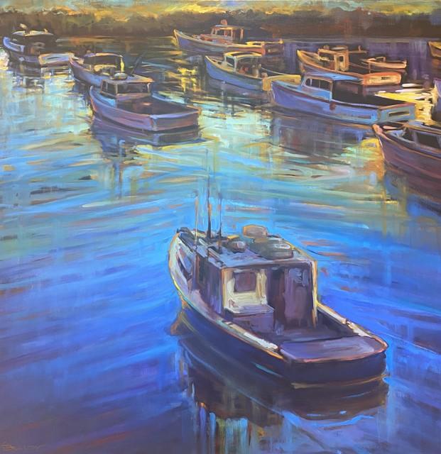 "Karen Bruson | My Blue Heaven | Oil on Canvas | 36"" X 36"" | $2,200.00"