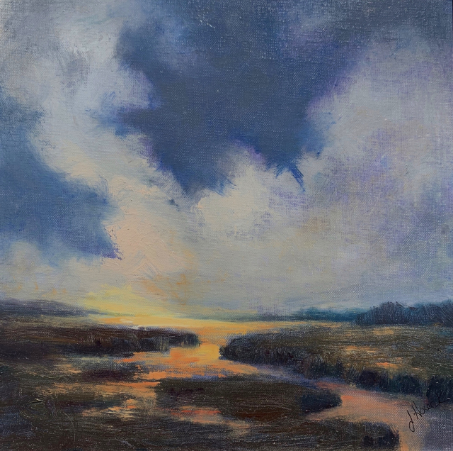 "Julie Houck | Beginning Again | Oil on Canvas Mounted on Panel | 10"" X 10"" 