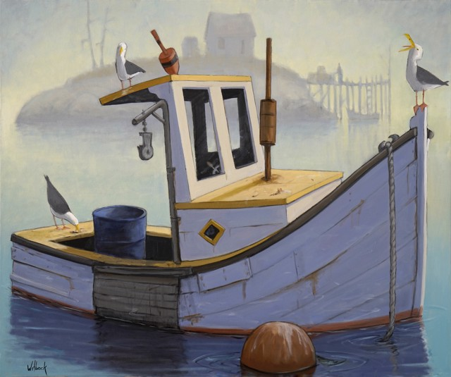 """David Witbeck   Semi-Retired   Oil on Canvas   30"""" X 36""""   $7,300.00"""