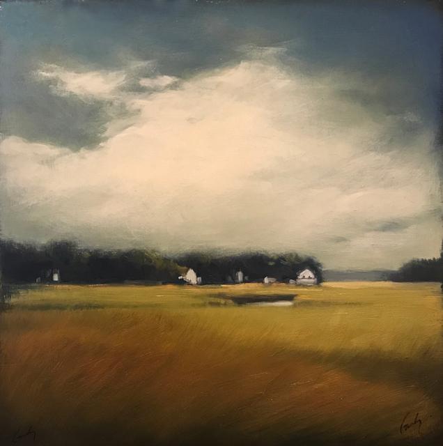 "Margaret Gerding | Road to Goose Rocks II | Oil on Panel | 16"" X 16"" | $2,500.00"