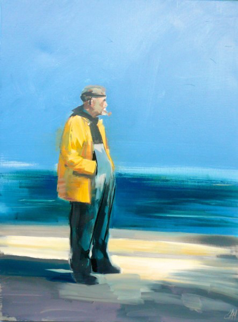 "Craig Mooney | Old Man and the Sea | Oil | 40"" X 30"" 