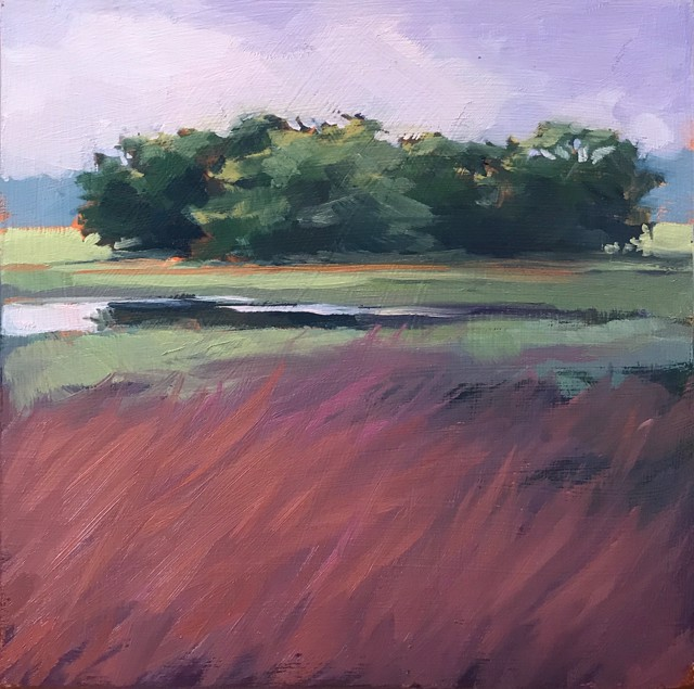 "Margaret Gerding | Close to Home - Day 1 | Oil on Panel | 8"" X 8"" 