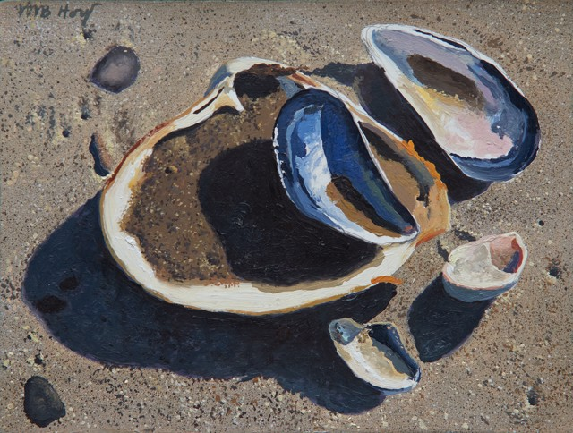 "William B. Hoyt | Wet Sand Dry Sand | Oil on Panel | 6"" X 8"" 