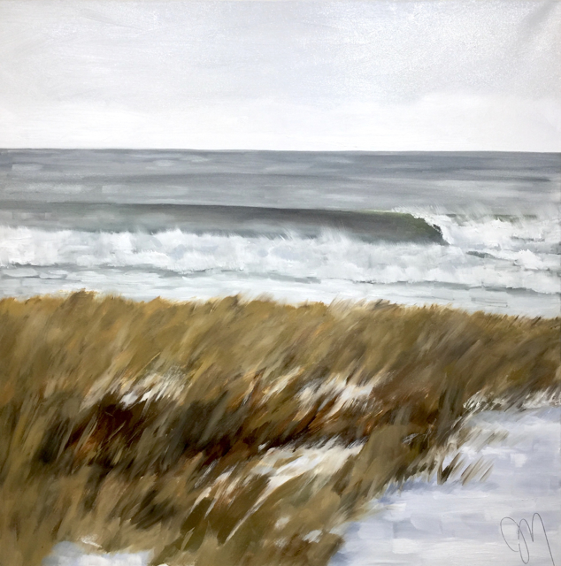 "Jill Matthews | December Wave | Oil on Canvas | 36"" X 36"" 
