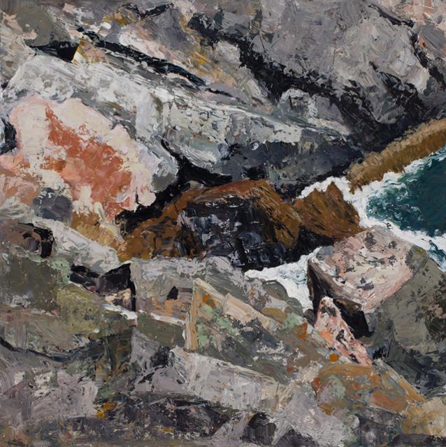 "Susan Bennett | Monhegan Island | Oil on Panel | 24"" X 24"" | Sold"