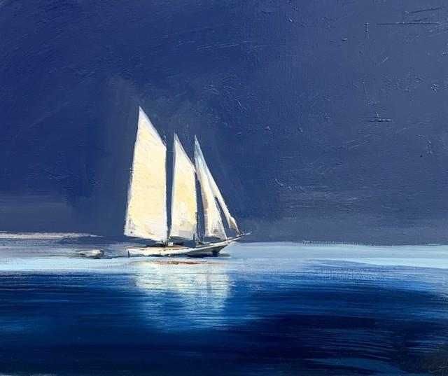 """Craig Mooney   Schooner   Oil on Canvas   24"""" X 30""""   Sold"""