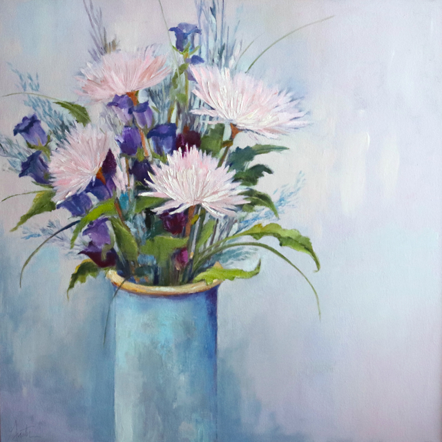 "Ellen Welch Granter | Solace | Oil on Canvas | 30"" X 30"" 