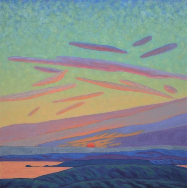 "R. Scott Baltz | Evening Goodbyes | Oil on Panel | 30"" X 30"" | $4,500.00"