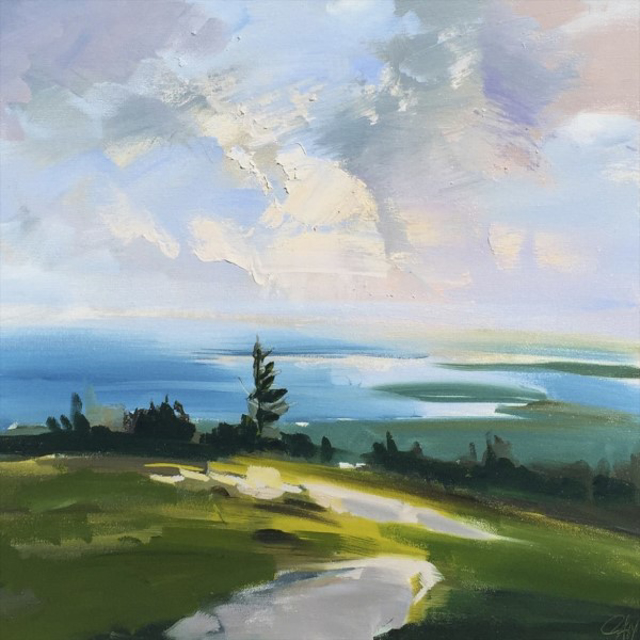 "Craig Mooney | Summit Light | Oil | 18"" X 18"" 