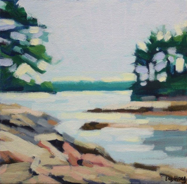 "Liz Hoag | Wolfes Neck | Acrylic on Canvas | 10"" X 10"" | Sold"