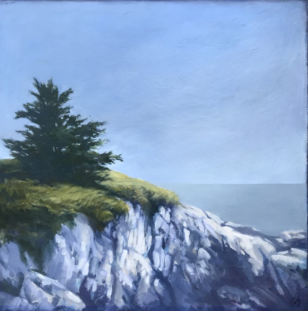 "Margaret Gerding | Maine Coast I | Oil on Panel | 24"" X 24"" 