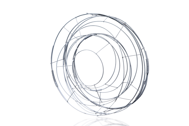 Steel Sculpture: Circle in White