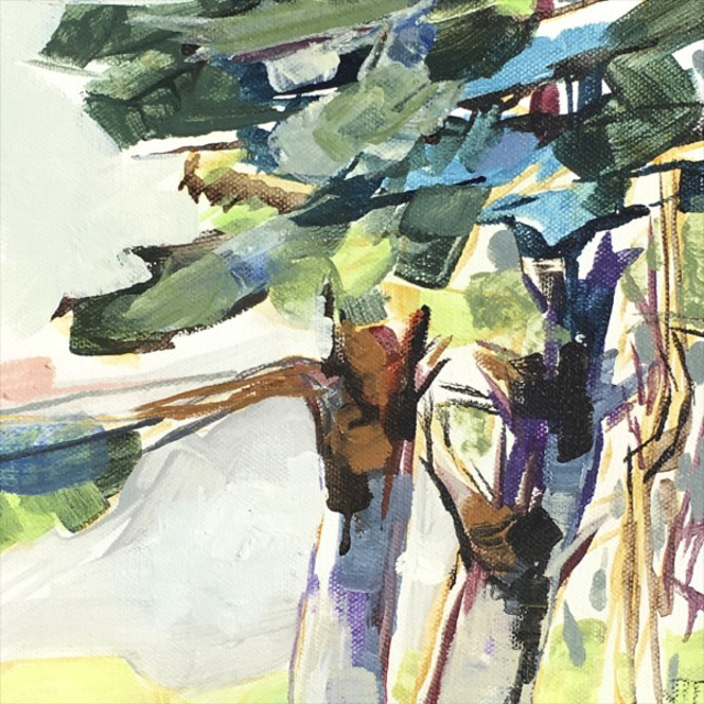 """Jeffrey T. Fitzgerald   Into Branches II   Acrylic   8"""" X 8""""   $300.00"""