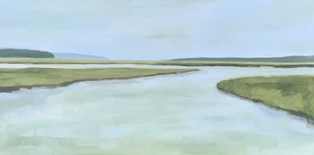 "Jill Matthews | Mousam Morning | Oil on Canvas | 24"" X 48"" | $2,950.00"