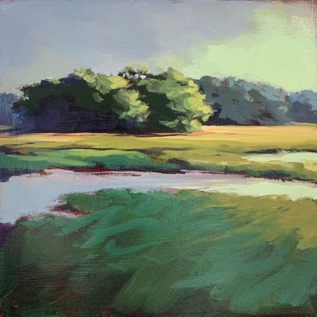 "Margaret Gerding   Maine Moments - Day 7   Oil on Panel   8"" X 8""   Sold"