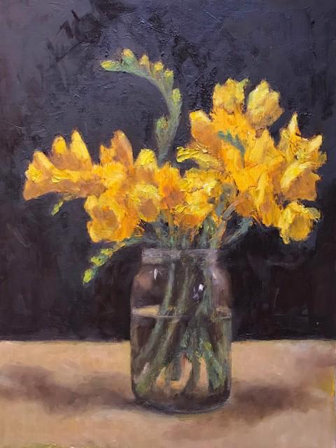 "Christopher Castelli | Freesia Nocturne | Oil | 10"" X 9"" | $850.00"
