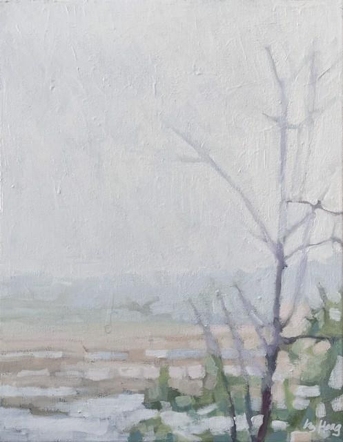 "Liz Hoag | Topsham Marsh | Acrylic on Canvas | 14"" X 11"" | Sold"