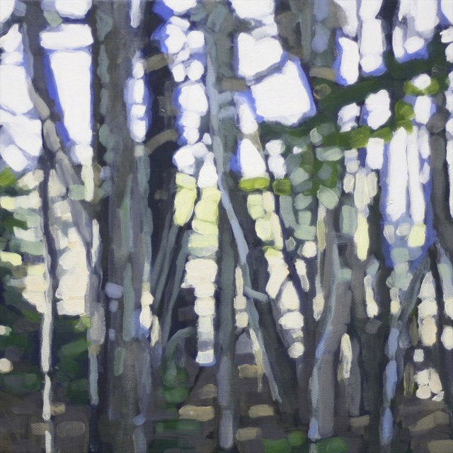 "Liz Hoag | Cool Woods on a Summer Day | Acrylic | 10"" X 10"" 