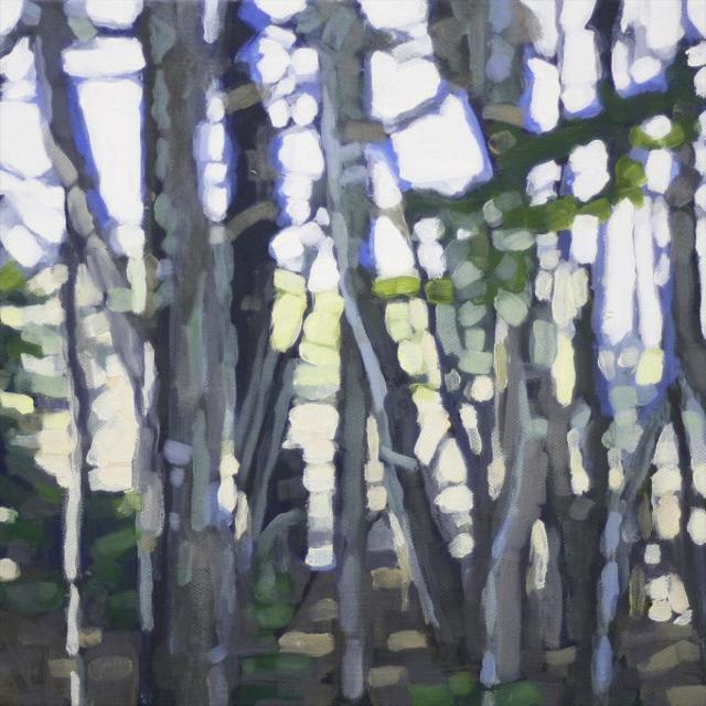 "Liz Hoag | Cool Woods on a Summer Day | Acrylic | 10"" X 10"" | $500.00"