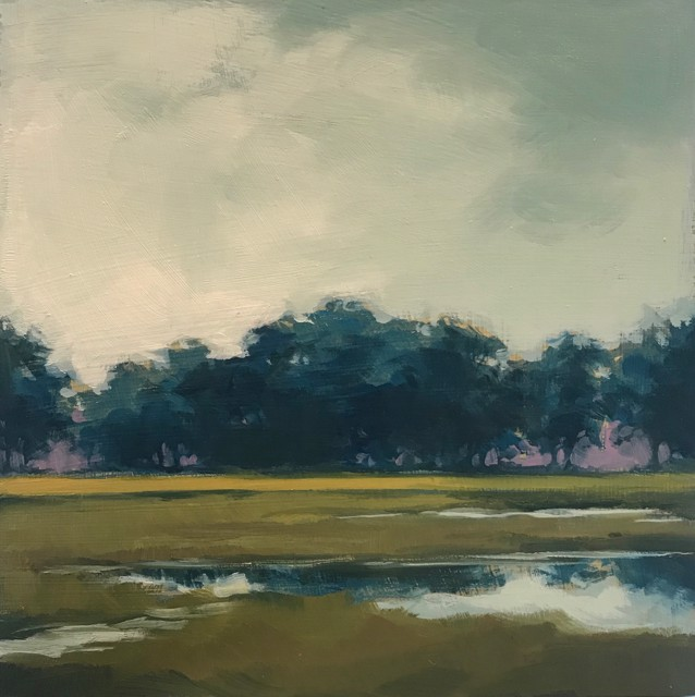 "Margaret Gerding | Close to Home - Day 7 | Oil on Panel | 8"" X 8"" 