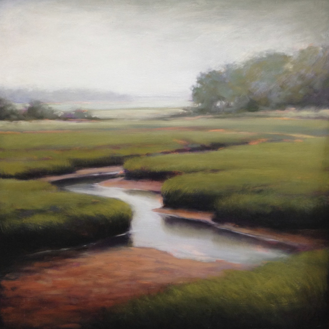 "Margaret Gerding | Outgoing Tide | Oil on Panel | 24"" X 24"" 