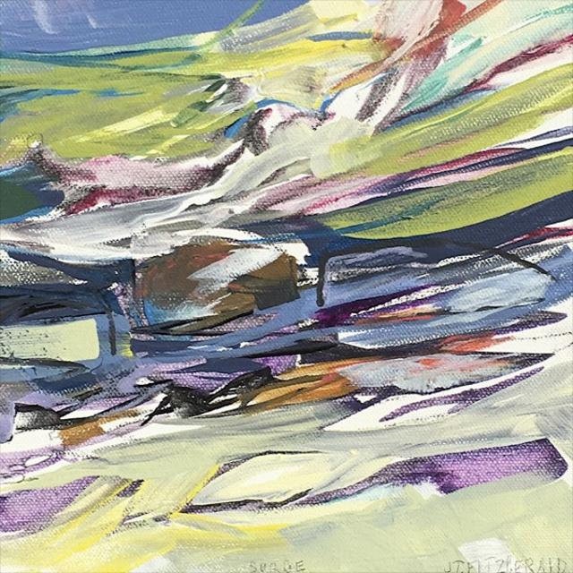 "Jeffrey T. Fitzgerald   Surge   Acrylic   8"" X 8""   Sold"