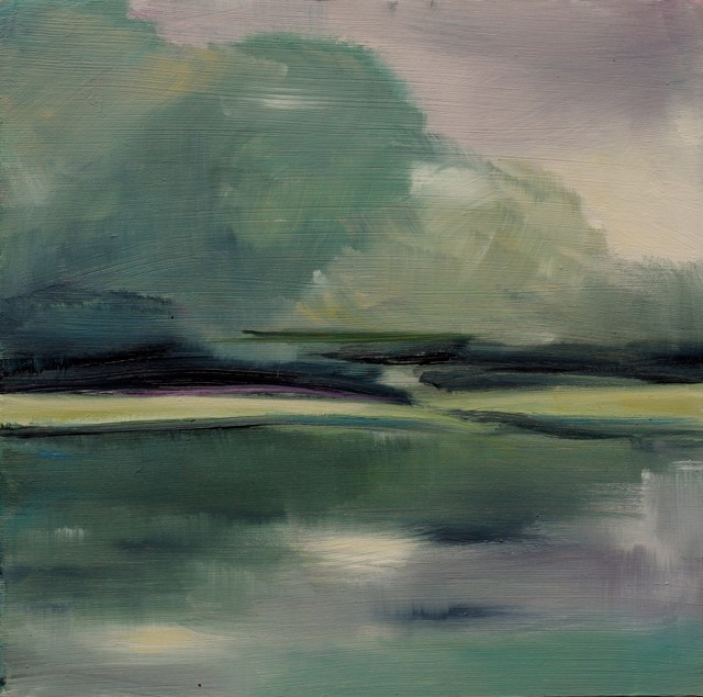"Ingunn Milla Joergensen | Kennebunk River Sketch 1 | Oil on Canvas | 10"" X 10"" 