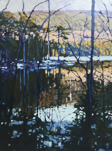 "Liz Hoag | Tree on the Point | Acrylic | 48"" X 36"" | Sold"
