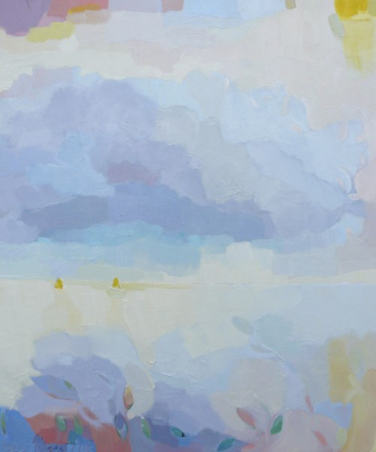 "Henry Isaacs | Summer Showers | Oil | 40"" X 34"" | $5,500.00"