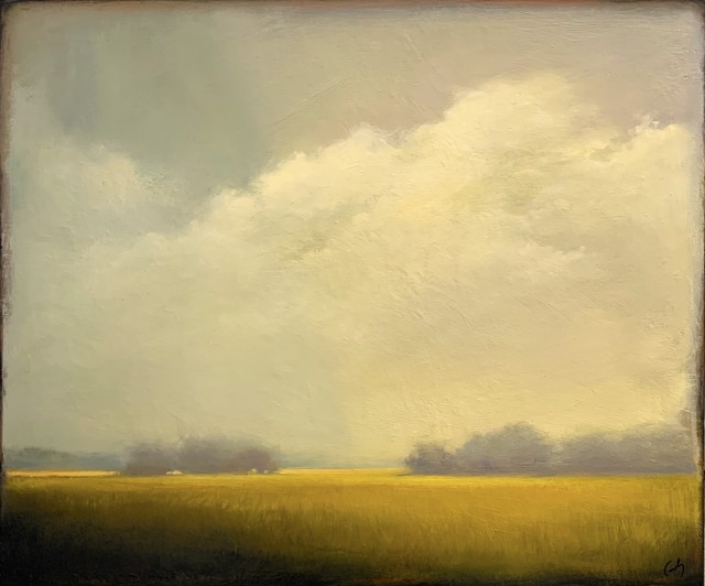"Margaret Gerding | Soft Yellow | Oil on Panel | 20"" X 24"" 