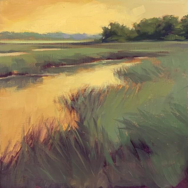 "Margaret Gerding   Maine Moments - Day 8   Oil on Panel   8"" X 8""   Sold"