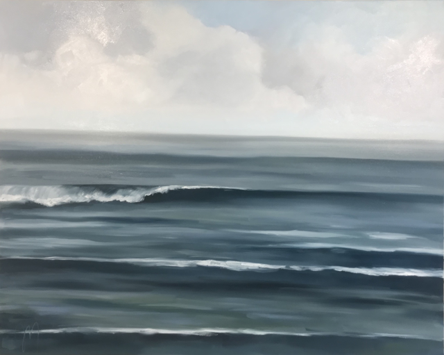 "Jill Matthews | Saphire Surf | Oil on Canvas | 48"" X 60"" 