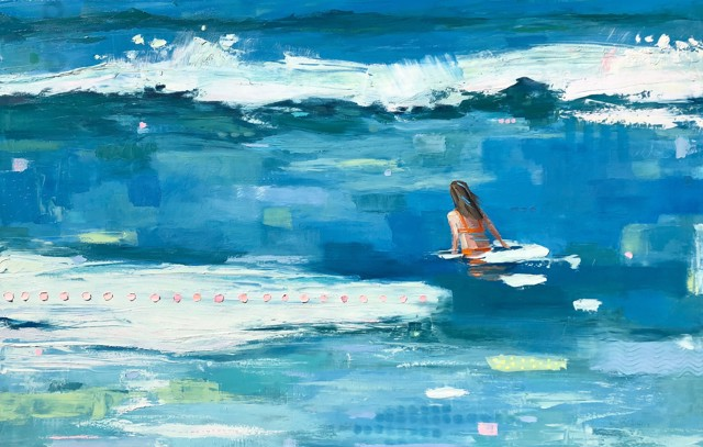 "Bethany Harper Williams | Seas to Amaze Me | Oil on Canvas | 41"" X 64"" 