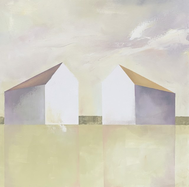 "Ingunn Milla Joergensen | Mothers of Pearl | Oil on Canvas with 18 Karat Gold Leaf | 24"" X 24"" | Sold"