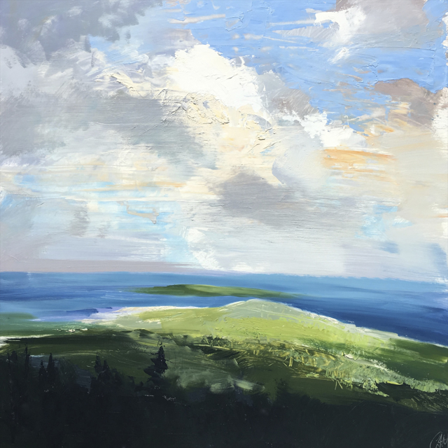"Craig Mooney | Ocean Overlook | Oil | 30"" X 30"" 