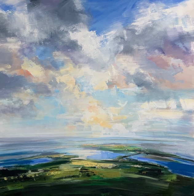 """Craig Mooney   Sea and Sky   Oil on Canvas   60"""" X 60""""   Sold"""