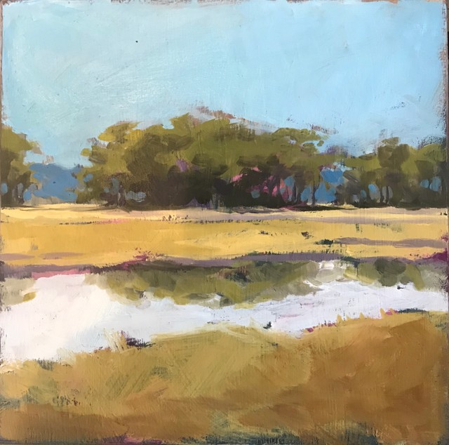 "Margaret Gerding | Close to Home - Day 11 | Oil on Panel | 8"" X 8"" 