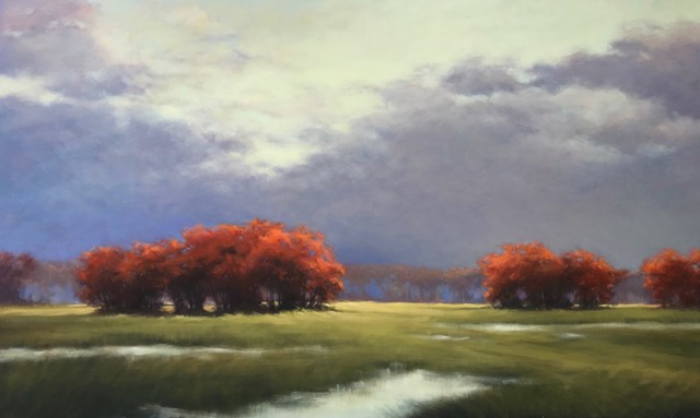 "Margaret Gerding   Autumn's Brilliance   Oil on Canvas   54"" X 88""   Sold"
