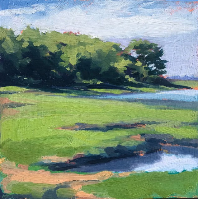 "Margaret Gerding | Close to Home - Day 9 | Oil on Panel | 8"" X 8"" 