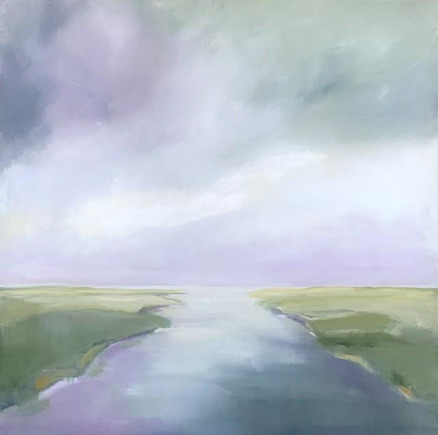 "Ingunn Milla Joergensen | Early Morning Reflections #1 | Oil on Canvas | 30"" X 30"" | Sold"