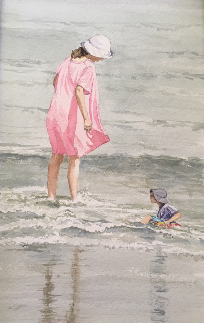 "Karen McManus   Got My Eye On You   Watercolor   16"" X 10""   Sold"
