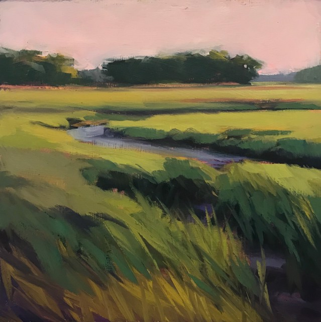 "Margaret Gerding | Close to Home - Day 30 | Oil on Panel | 8"" X 8"" 