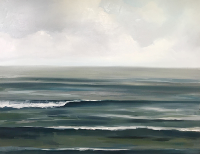 "Jill Matthews | Teal Sea I | Oil on Canvas | 48"" X 60"" 