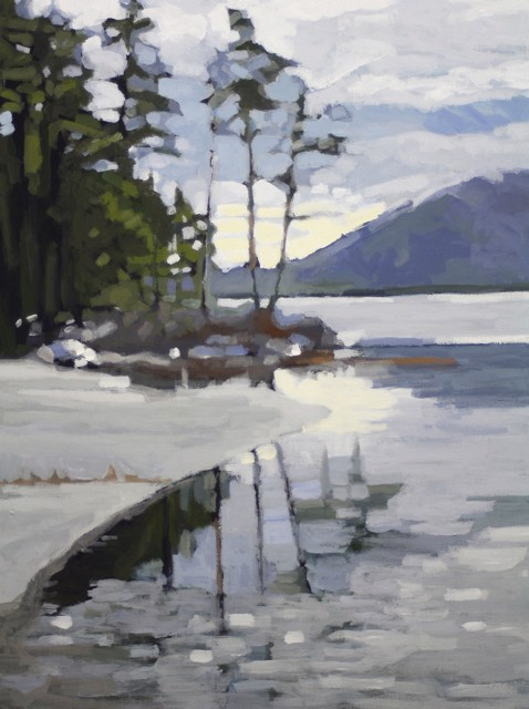 "Liz Hoag | Eagle Lake Reflection | Acrylic | 24"" X 18"" 